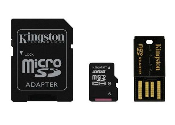 Флеш карта microSD 32GB Kingston micro SDHC Class 10 Mobility Kit